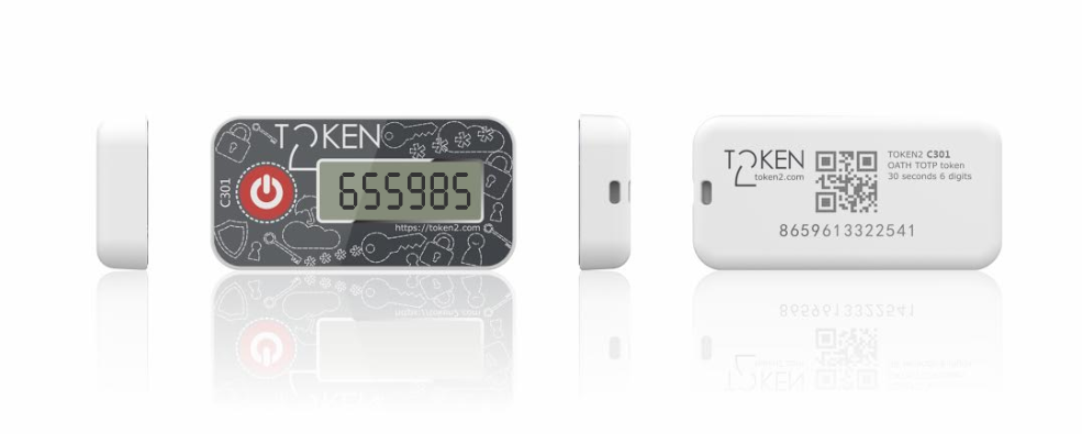 Token2 C300/C301 programmable keyfob TOTP hardware token for Office 365 and  Azure MFA