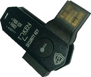 Token2 T2F2-AZ FIDO2.1.pre, U2F and TOTP Security Key